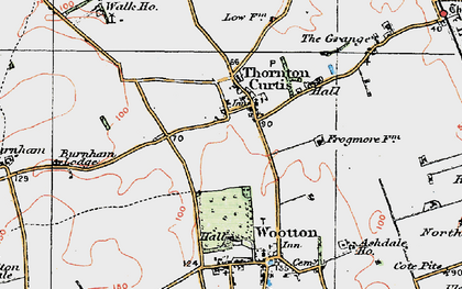 Old map of Thornton Curtis in 1924
