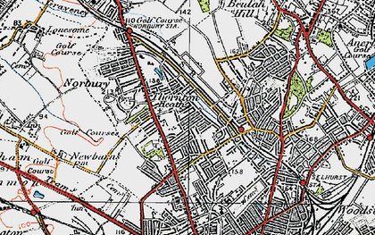Old map of Thornton Heath in 1920