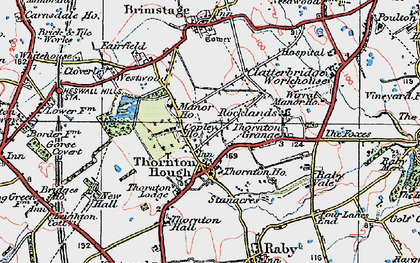 Old map of Wirral in 1924