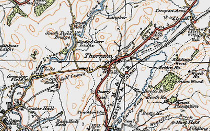 Old map of Thornton-in-Craven in 1924