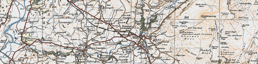 Old map of Wilson Wood in 1924