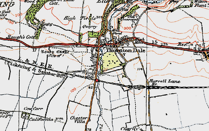Old map of Willow Grange in 1925