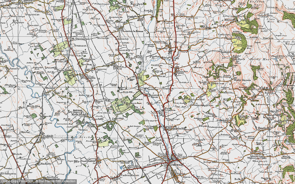 Old Map of Historic Map covering Leachfield Grange in 1925