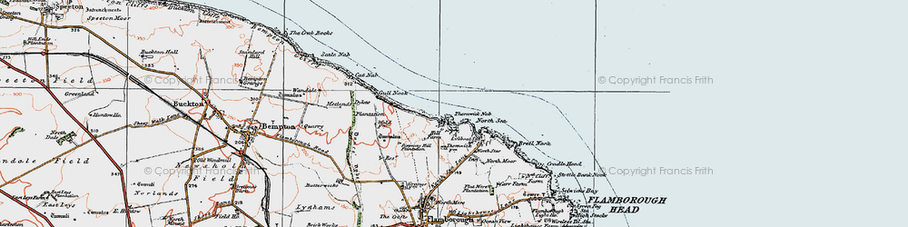 Old map of Thornwick Bay in 1924