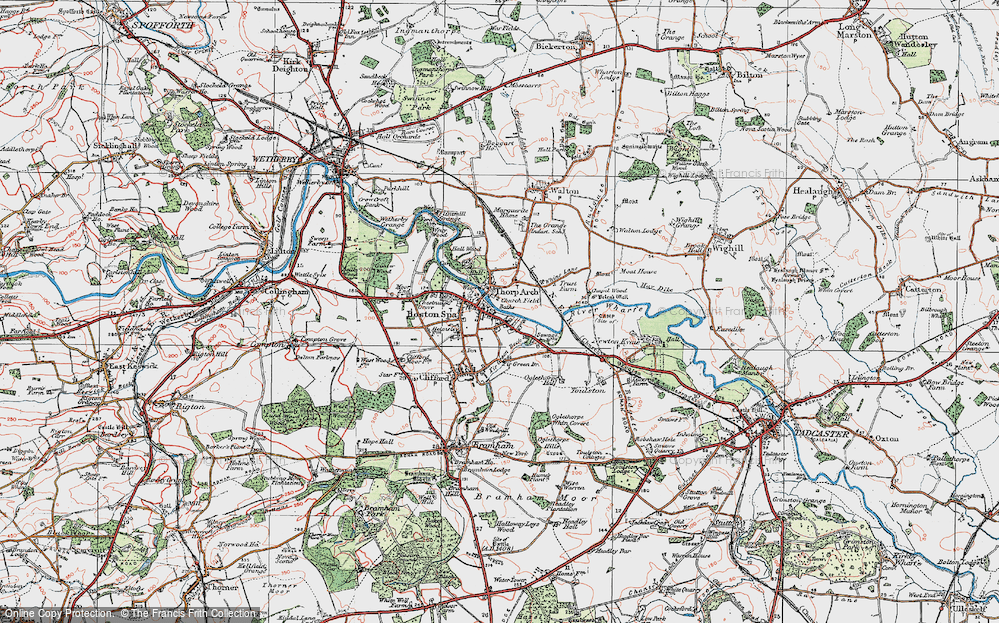 Old Map of Thorp Arch, 1925 in 1925