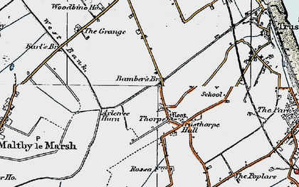Old map of Axletree Hurn in 1923
