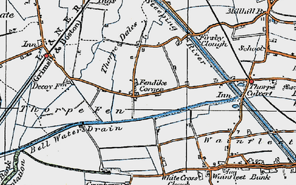 Old map of White Cross Clough in 1923