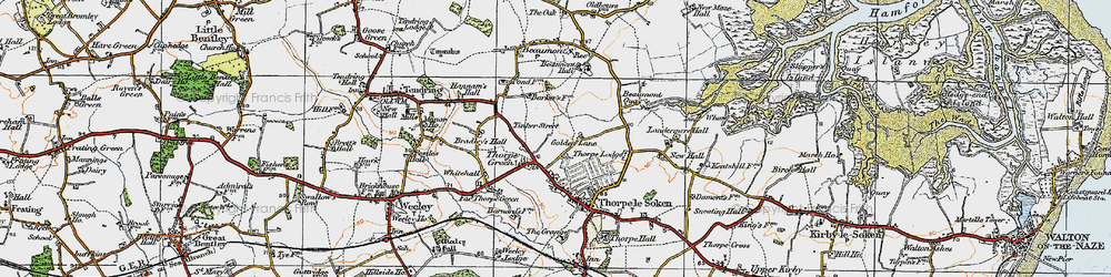 Old map of White Hall in 1921