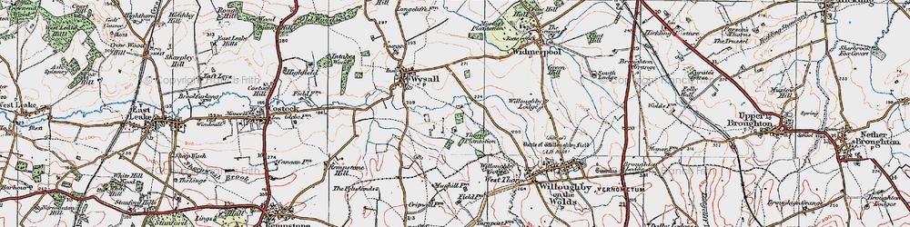 Old map of Windyridge in 1921