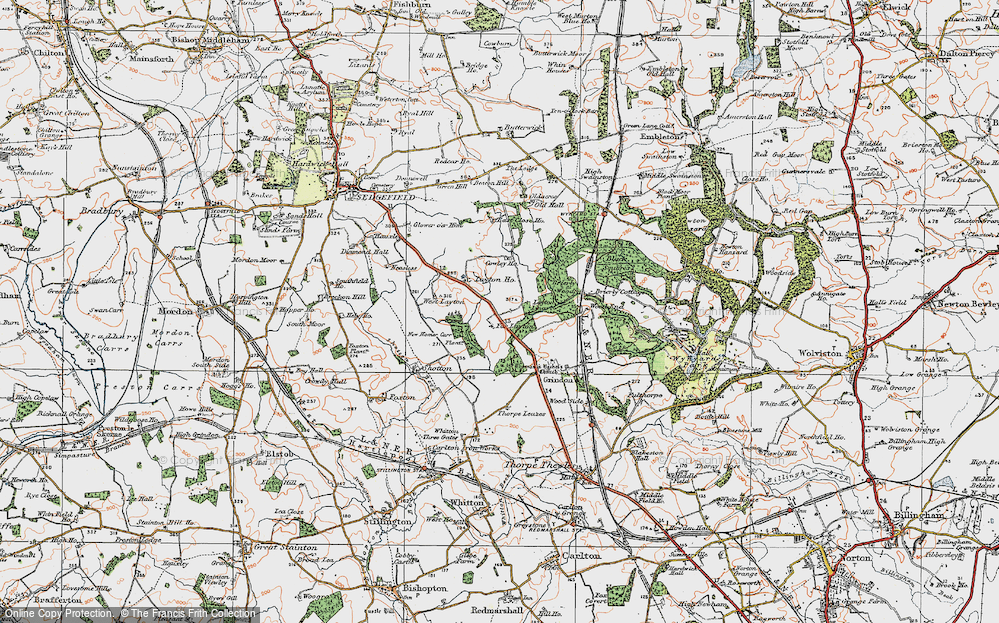 Old Map of Historic Map covering Layton Ho in 1925