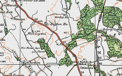 Old map of Layton Village in 1925