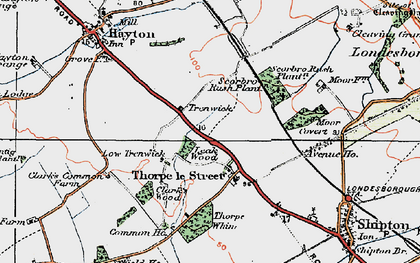 Old map of Leak Wood in 1924