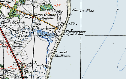 Old map of Thorpeness in 1921