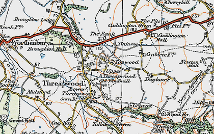 Old map of Tinkwood in 1921