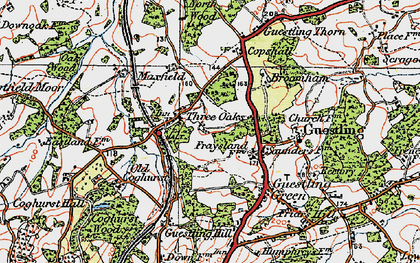 Old map of 1066 Country Walk Hastings Link in 1921