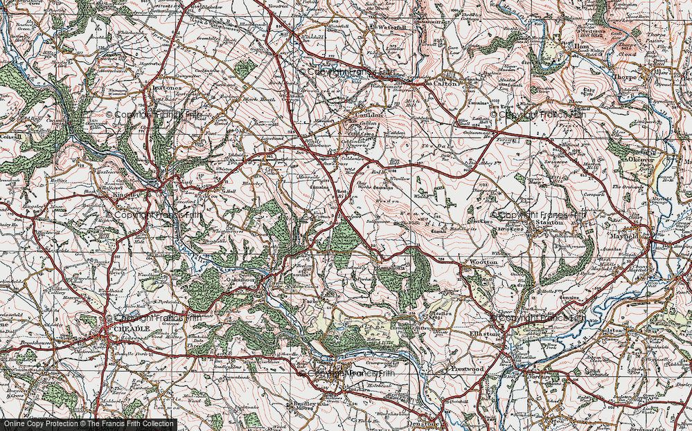 Old Map of Historic Map covering Lickshead in 1921