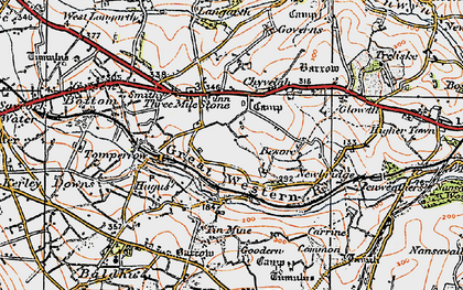 Old map of Threemilestone in 1919