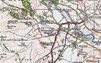 Old map of Threshfield in 1925