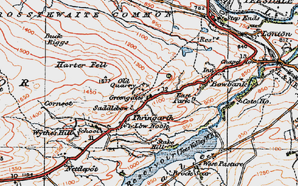 Old map of Wythes Hill in 1925