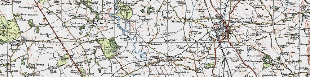 Old map of Yafforth Grange in 1925