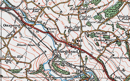 Old map of Thurgoland in 1924