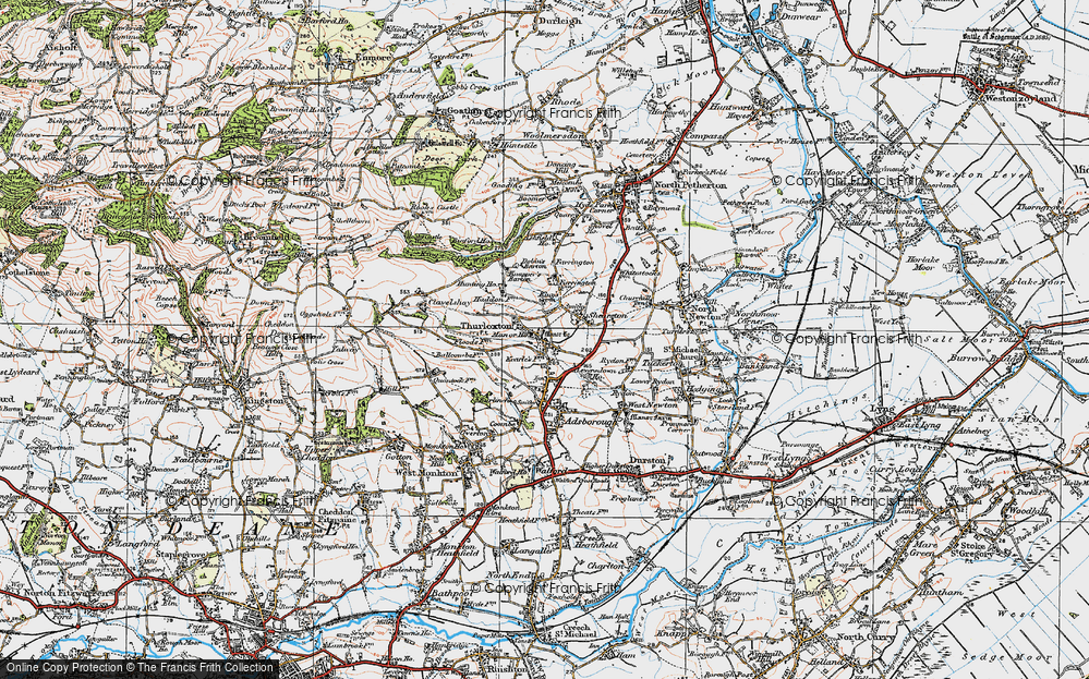 Old Map of Thurloxton, 1919 in 1919