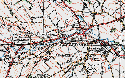 Old map of Thurlstone in 1924