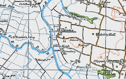 Old map of Thurne Mouth in 1922