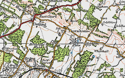 Old map of Thurnham in 1921