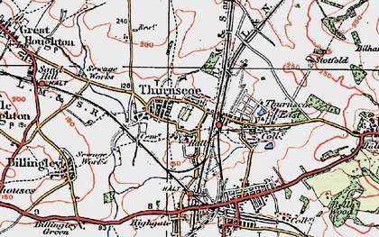 Old map of Thurnscoe in 1924