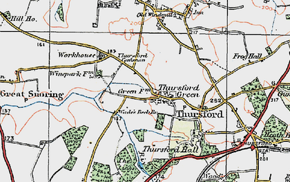 Old map of Thursford in 1921