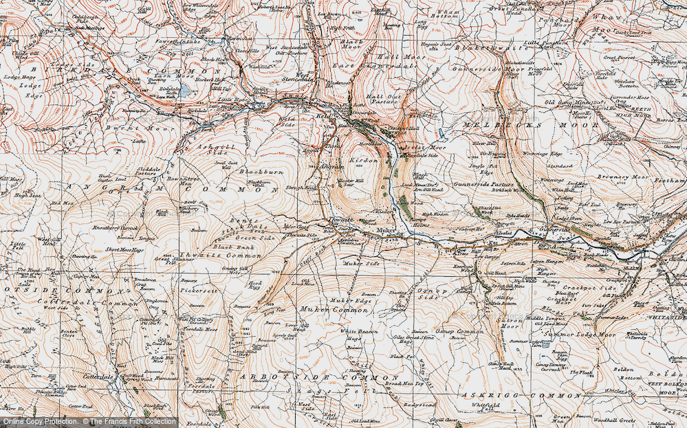 Old Map of Thwaite, 1925 in 1925