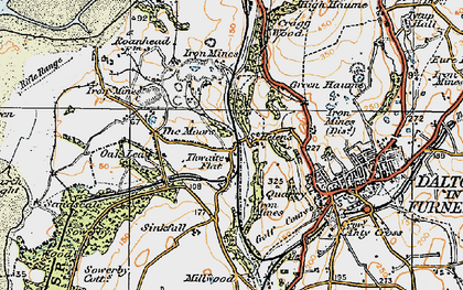 Old map of Thwaite Flat in 1925