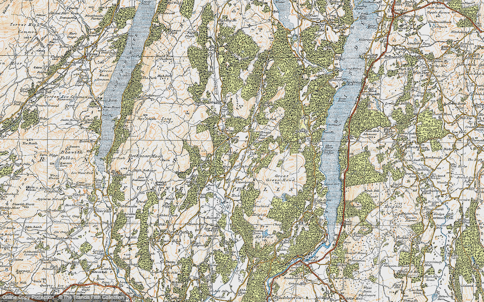 Old Map of Thwaite Head, 1925 in 1925
