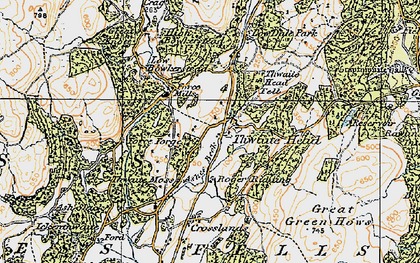 Old map of Thwaite Head in 1925