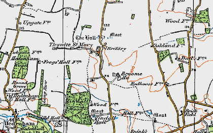 Old map of Tindall Hall in 1922