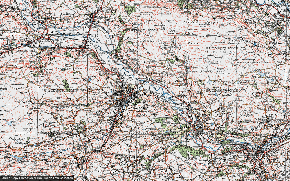 Old Map of Thwaites, 1925 in 1925