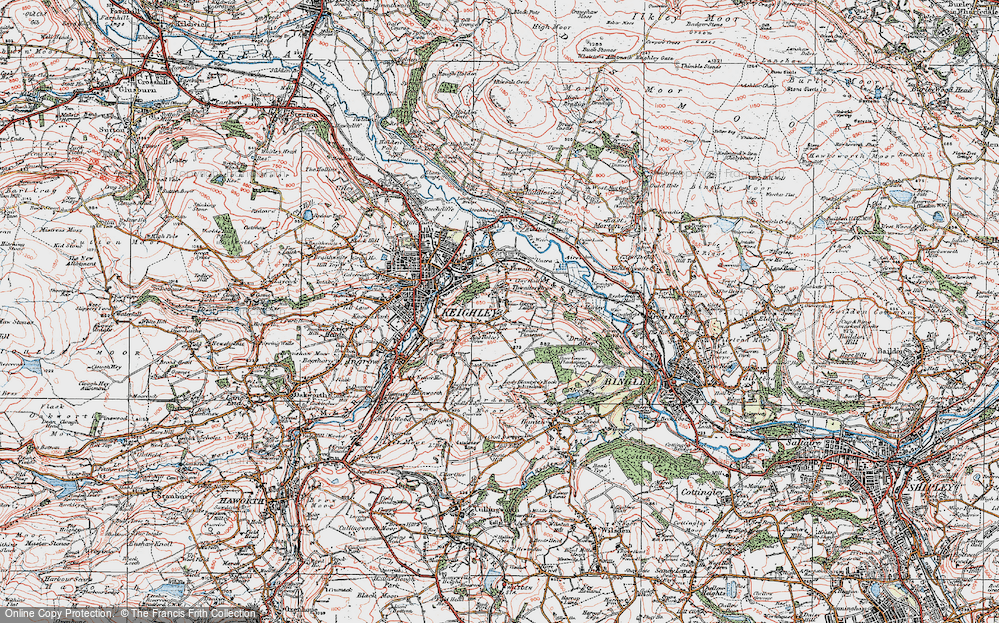 Old Map of Thwaites Brow, 1925 in 1925