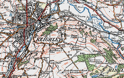 Old map of Thwaites Brow in 1925