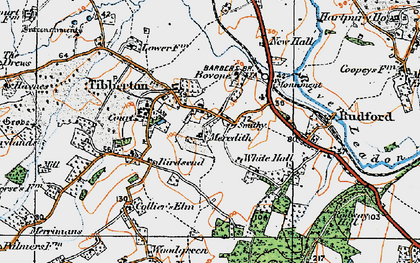 Old map of Tibberton in 1919