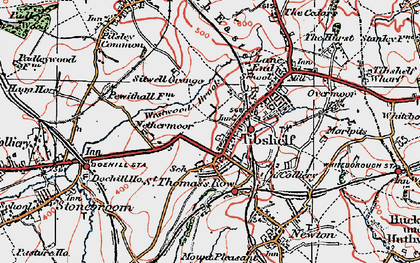 Old map of Westwood Brook in 1923