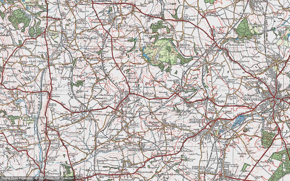 Old Map of Tibshelf Wharf, 1923 in 1923