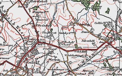Old map of Tibshelf Wharf in 1923