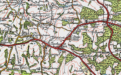 Old map of Ticehurst in 1920