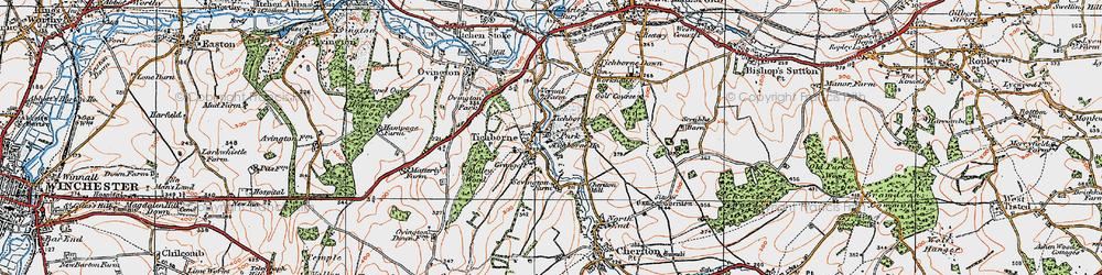 Old map of Tichborne Park in 1919