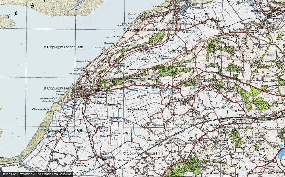 Old Map of Tickenham, 1919 in 1919