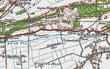 Old map of Tickenham in 1919