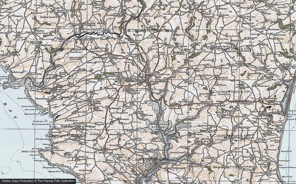 Old Map of Ticket Wood, 1919 in 1919