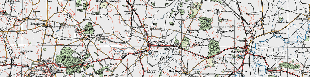 Old map of All Hallows Hill in 1923