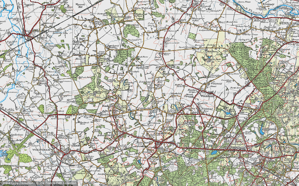 Old Map of Tickleback Row, 1919 in 1919